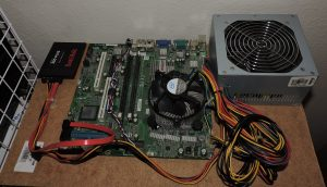 Desktop Motherboard Attached to board
