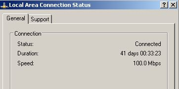 Network Card Up Time